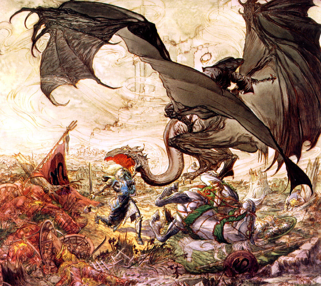 Eowyn and the Witch-King of Angmar - Michael Kaluta