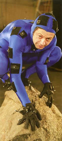 Andy Serkis in his Motion-Capture Gollum Suit