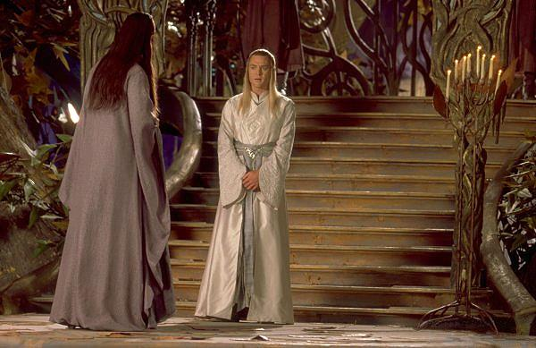 Celeborn and Elrond in Caras Galadhon