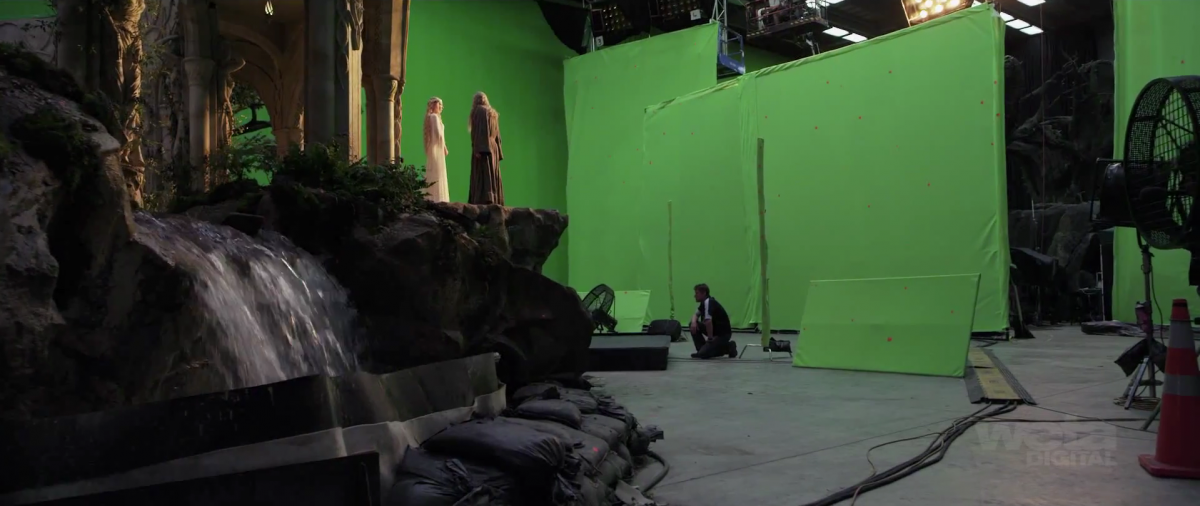 Gandalf and Galadriel in Green Screen Rivendell