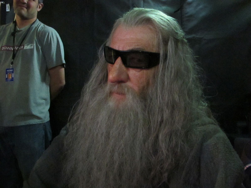 Gandalf in 3D Glasses (on the set of The Hobbit)