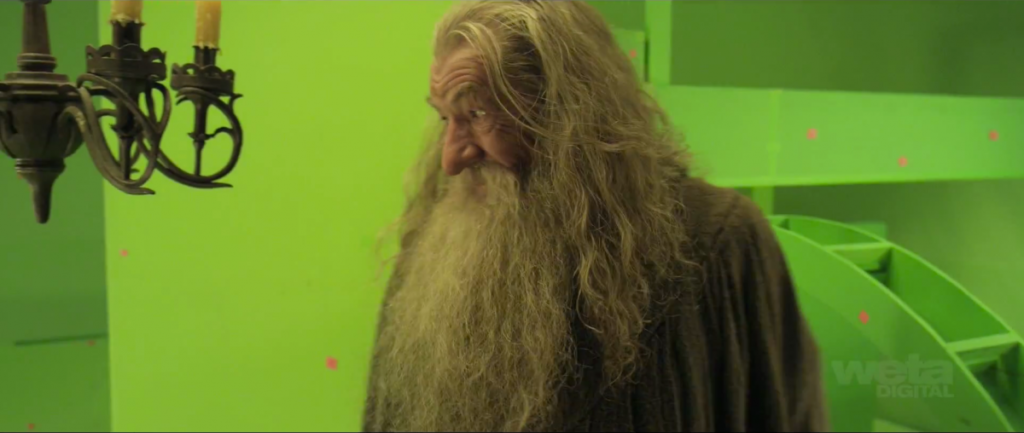 Gandalf in Green Screen Bag End
