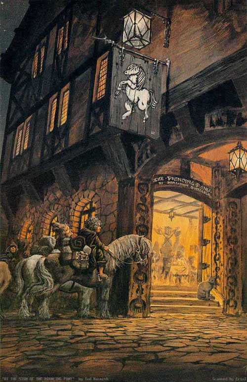 The Sign At the Prancing Pony - Ted Nasmith