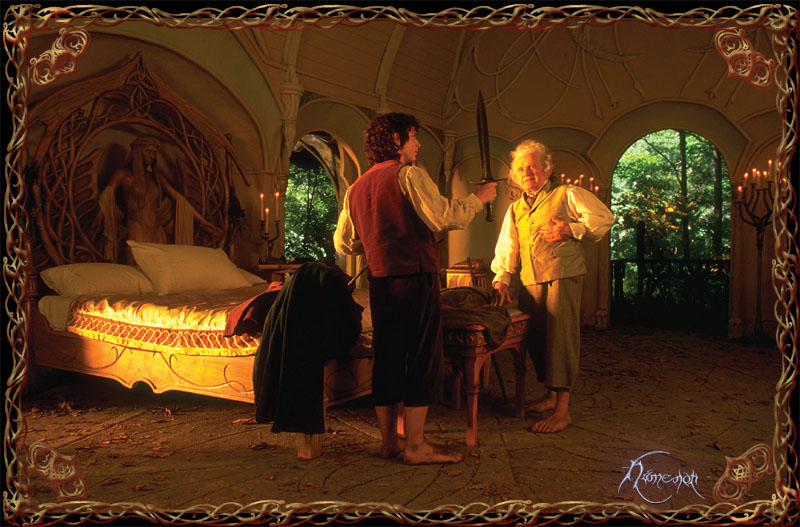 Bilbo gives Sting to Frodo