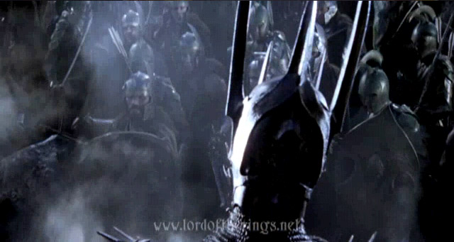 Sauron at the Battle of the Last Alliance