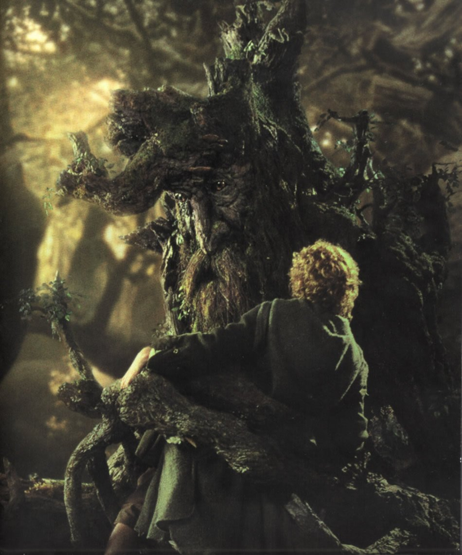 Treebeard Holds Merry and Pippin